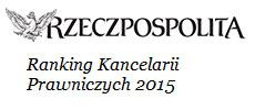 Ranking Kancelarii Prawniczych 2016 - Tatara Małopolska Kraków
