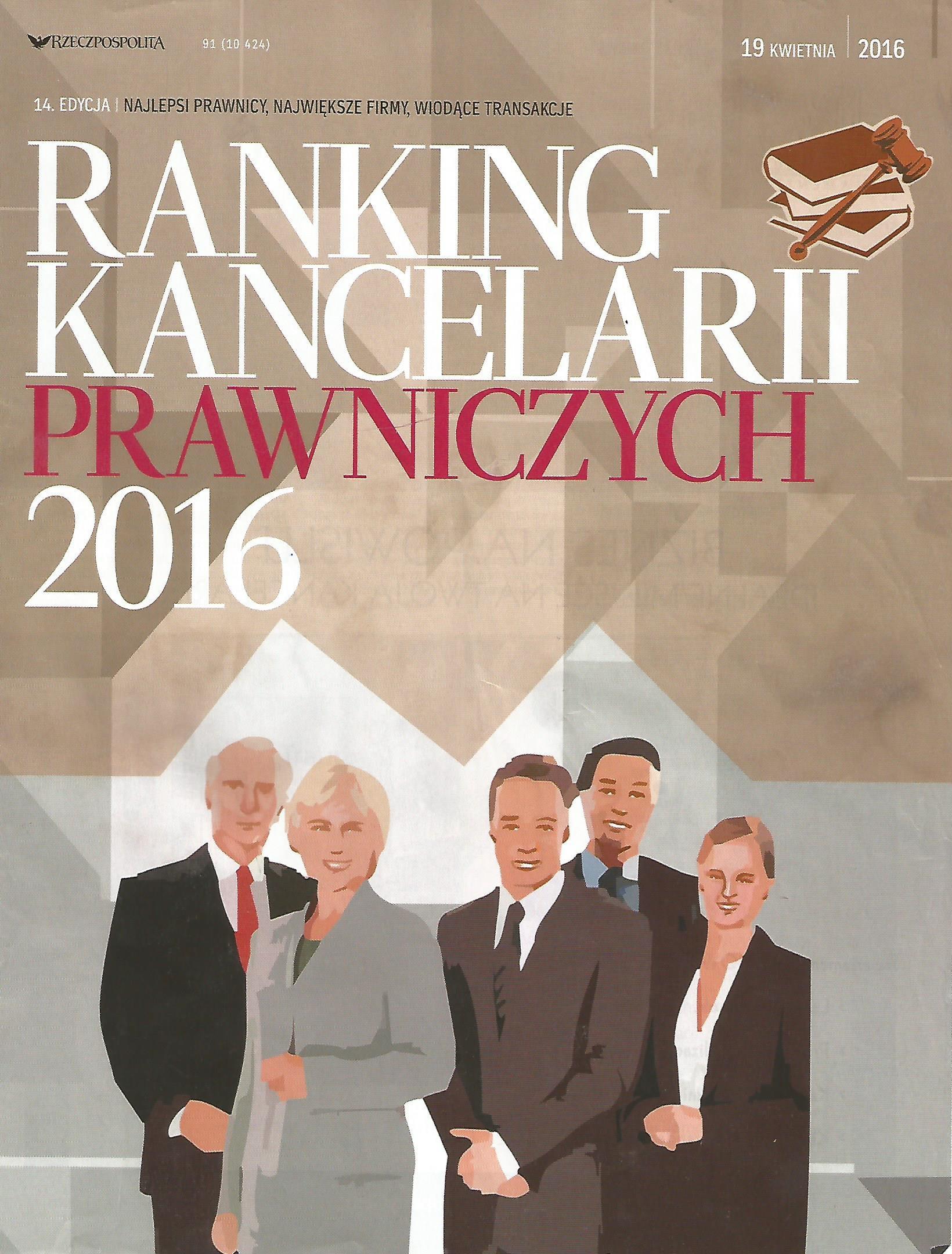Ranking Kancelarii Prawniczych 2016