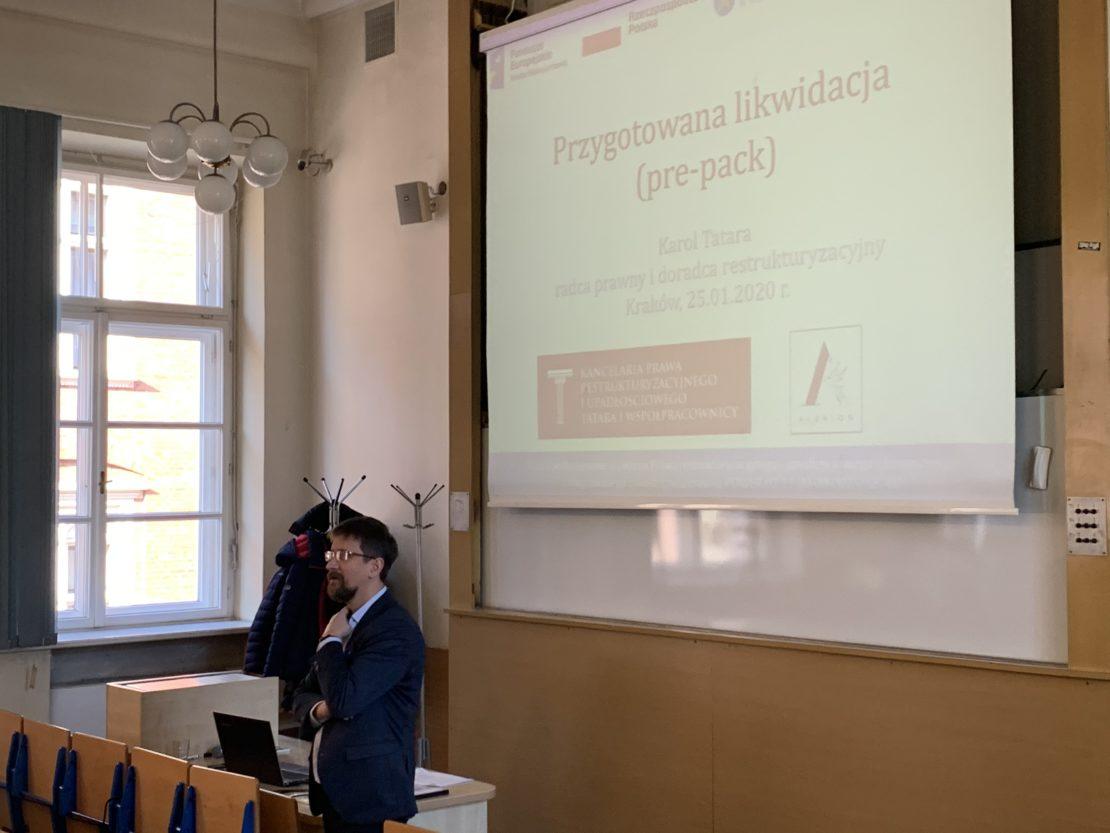 wykład Karola Tatary o pre-packu